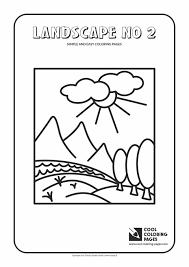 simple landscape coloring pages fleagorcom