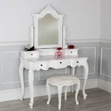 french chateau white dressing table linen set with stool castle
