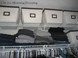 chic on a shoestring decorating how to organize your closet