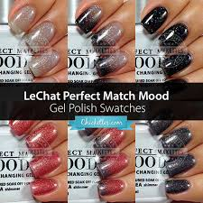 lechat perfect match mood gel polish swatches at chickettes com