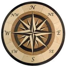 wood compass wall compass medallion tile flooring ebay