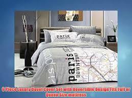 Queen Duvet Cover Sets Le Vele Le297q Bedding Duvet Cover Set Queen Paris Map Youtube