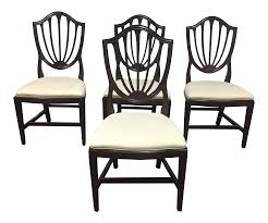 ethan allen shield back dining chairs set of 4 chairish