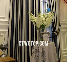 Striped Blackout Curtains Striped Blackout Navy Striped Curtains