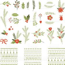 set of christmas graphic elements and ornaments stock vector art
