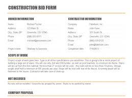 construction proposal templates open door construction