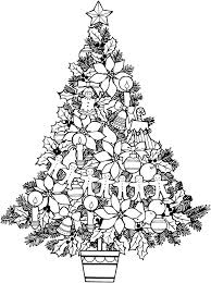 coloring pages for adults christmas tree coloring page