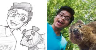 this artist turns strangers into anime characters bored panda
