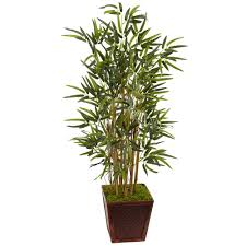 nearly natural indoor bamboo artificial tree in bamboo square 5803