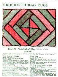 Log Cabin Area Rugs by Log Cabin Crocheted Rag Rug Pattern Fan Freebie Vintage Crafts