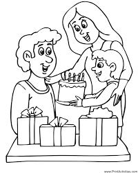 birthday party coloring dad u0027s birthday