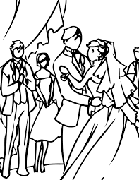 wedding coloring pages handipoints