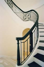 Metal Landing Banister And Railing Metal Curved Stair Railing Google Search Staircases Railings