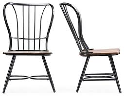 Black Wood Dining Chair Incredible Metal And Wood Dining Chairs With Longford Dark Walnut
