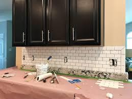 installing backsplash kitchen impressive how to install subway tile backsplash subway tile