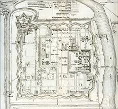 French Map French Map Of Hue Citadel Old Capital Of Royal Vietnam 1885