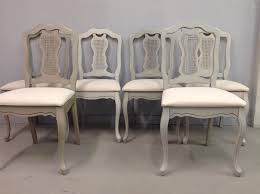Burlap Dining Chairs Mismatched Queen Anne Dining Chairs Chalk Painted With Superior