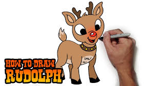 cartoon reindeer drawings draw clarice reindeer