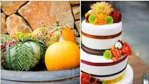 use pumkins of all sizes as centerpieces for the tablescapes at