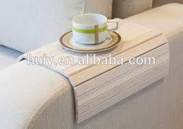 plateau de canapé amovible en bois canapé accoudoir roll up plateau table