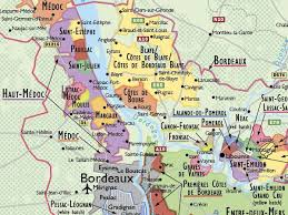 map of bordeaux wine map of