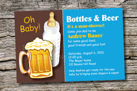 diaper party potential invite 3 bottles and beer man shower