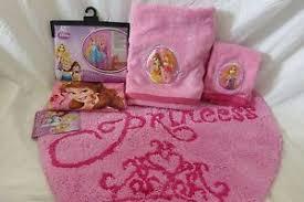 Disney Bath Rug 4 Pc Disney Princess Fabric Shower Curtain Towels Bath Rug Set