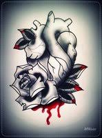 fantastic bleeding diamond flower tattoo for men tattoomagz