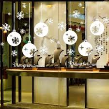 Amazon Uk Christmas Window Decorations by Kingko New Christmas Snowflake Lamp Pattern Window Stickers For