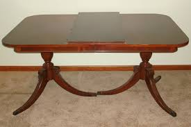 dining room duncan phyfe double pedestal mahogany dining table