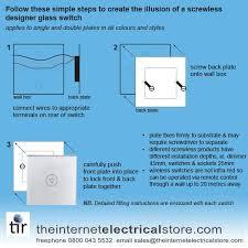 switch glass 1 gang touch light switch 1 way black glass mg uk01 bk