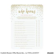 Invitation Cards Size Confetti Shower Who Knows The Bride Best Cards Bridal Shower