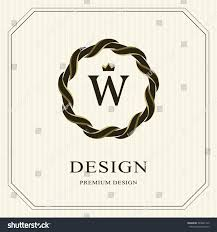 abstract monogram round template linear seamless stock vector