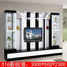 salas living room wall units lemari tv kabinet minimalis murah terbaru mewah rak buku murah
