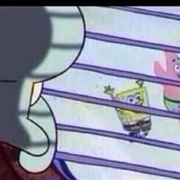 Squidward Meme Generator - squidward looking out window caption meme generator