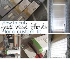 Wood Blinds For Windows - how to cut faux wood blinds for a custom fit