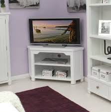 White Painted Oak Furniture Bedroom White Painted Wooden Tv Stand Furnished With Curved Edge
