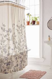 Urbanoutfitters Curtains Plum U0026 Bow Scattered Flowers Shower Curtain Spaces Apartments