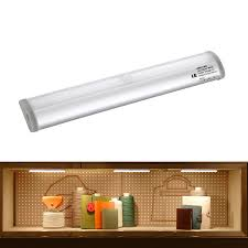 Battery Operated Under Cabinet Lighting by Battery Powered Undercabinet Light Bar W Pir Sensor 10 Leds Le