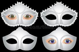 white masquerade masks for women white masquerade masks and carnival vector stock