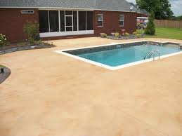 Dyed Concrete Patio by Best Colors For A Cement Pool Deck Google Search Outdoor