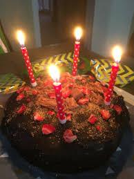 chocolate birthday cake muffin mum