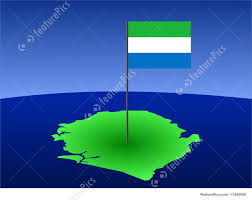 Map Of Sierra Leone Illustration Of Map Of Sierra Leone With Flag