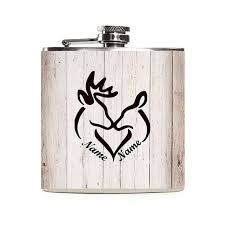 his and hers flasks personalized deer flask his and hers wedding gift wedding