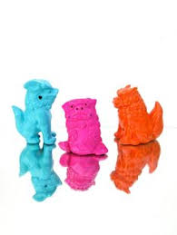 orange foo dogs vintage foo dogs large hot pink guardian by electricmarigold 85 00