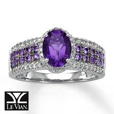 14k gold large diamond amethyst kay oval amethyst ring 1 4 ct tw diamonds 14k vanilla gold