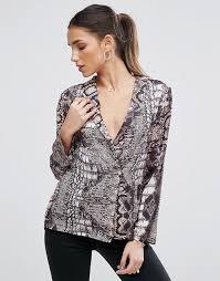 snake print blouse asos asos pajama blouse in snake print