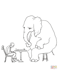 mr mcgee and the elephant coloring page free printable coloring