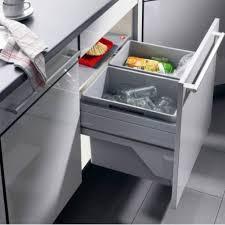poubelle cuisine 60l poubelle tri selectif 2 bacs capacité 60l hailo accessoires de cuisine