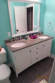 amish made bathroom cabinets my amish made powder room vanity bathrooms pinterest powder